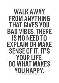 negativity walk away