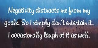 Negitity quote laugh at it
