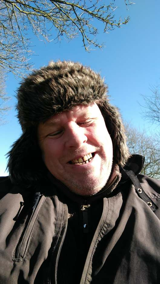 nutty husband on a cold feb day