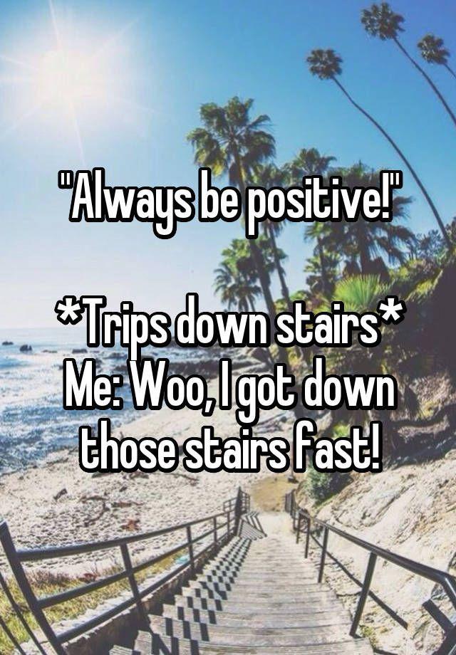 Being positive joke